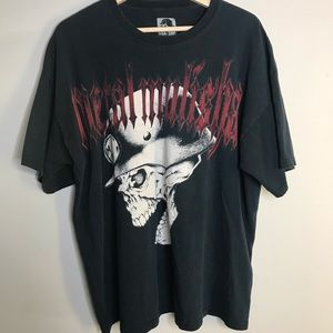 Black Vintage Oversized XL Metal Mulisha Tshirt